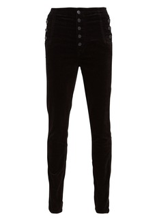J Brand Natasha Sky-High Velvet Skinny Pants
