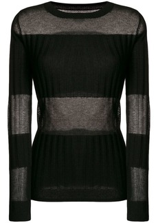J Brand panelled fine knit sweater