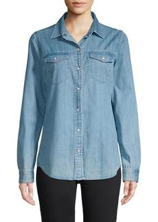 J Brand Perfect Button-Down Denim Shirt