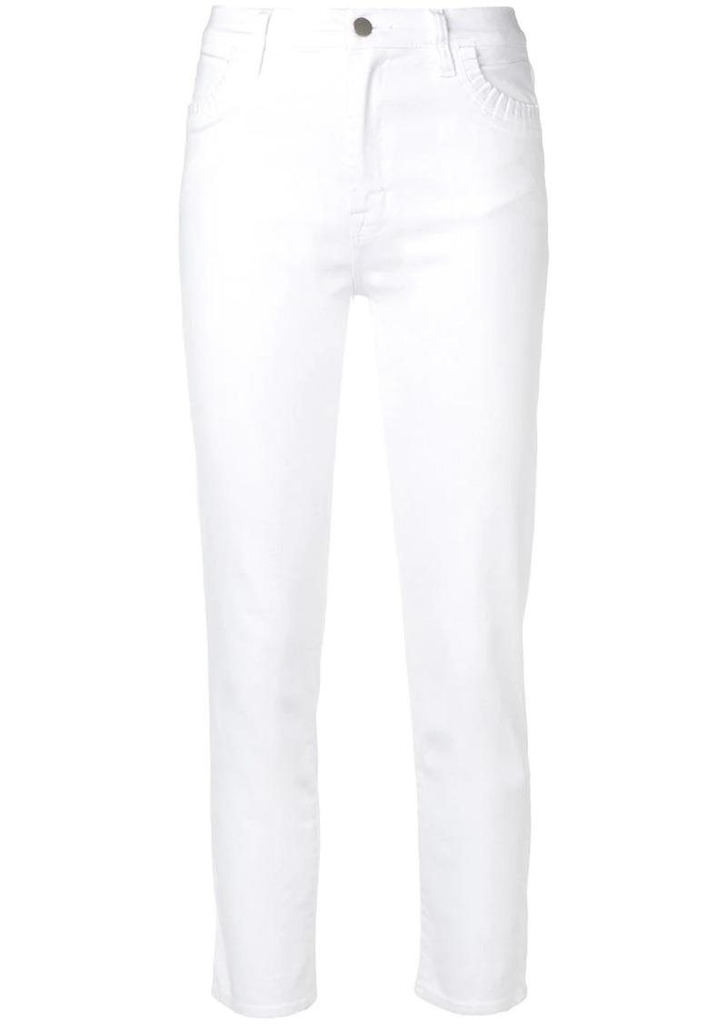 J Brand pleated pocket skinny jeans