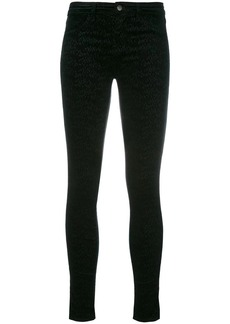 J Brand printed slim-fit pants