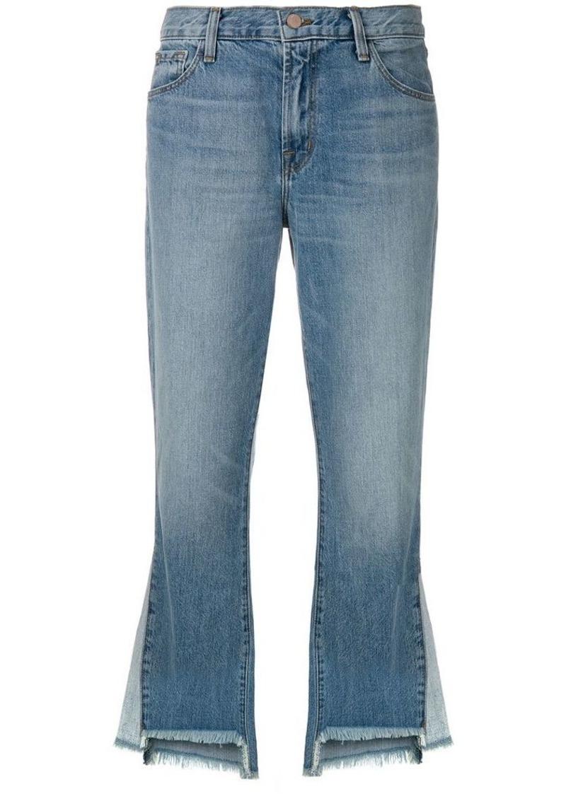 J Brand raw edge flared jeans