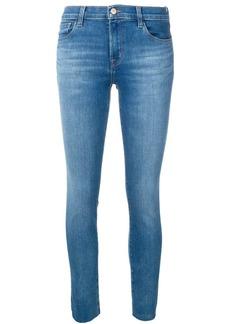 J Brand raw hem skinny ankle jeans