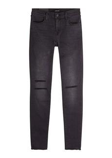 J Brand Raw Mid-Rise Skinny Jeans