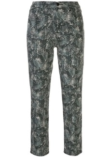 J Brand Ruby abstract-print cropped jeans