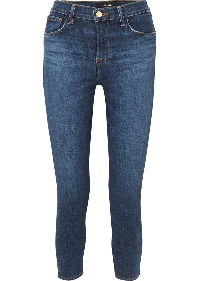 J Brand Ruby Cropped High-rise Slim-leg Jeans