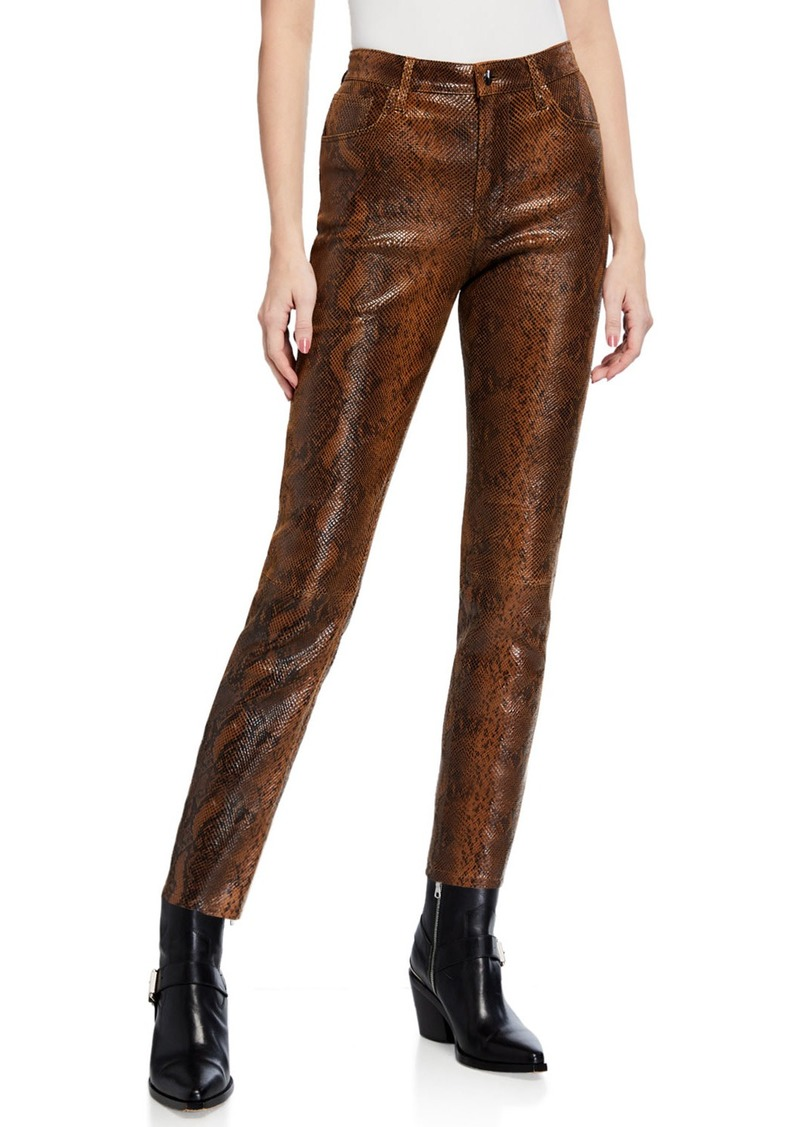 J Brand Ruby High-Rise Crop Cigarette Pants