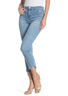 J Brand Ruby High Rise Destroyed Crop Skinny Jeans