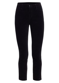 J Brand Ruby High-Rise Velvet Cigarette Pants