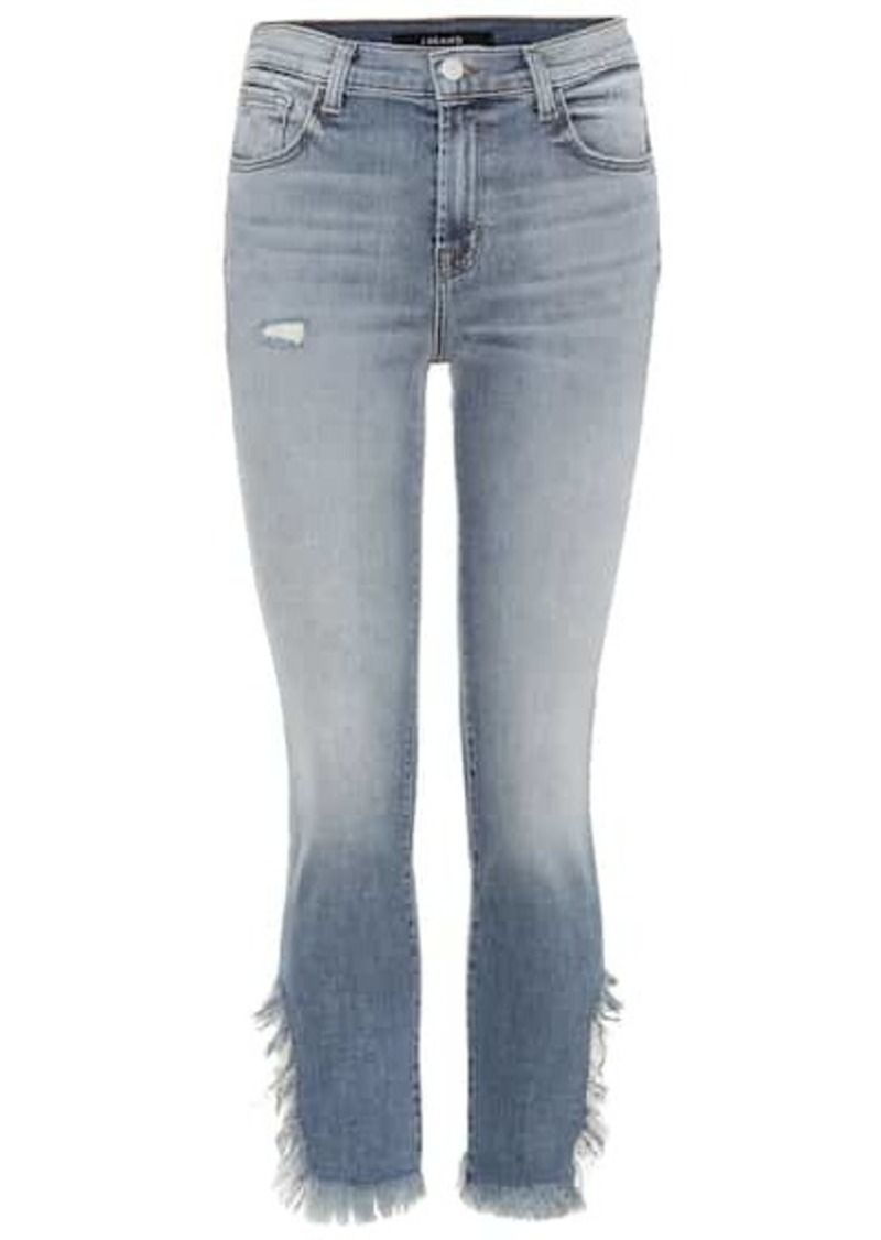 J Brand Ruby high-waisted cropped jeans