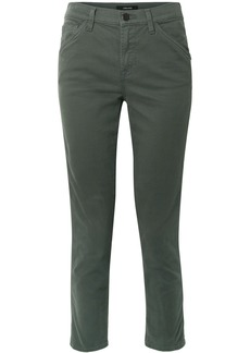J Brand Ruby Painter stretch cotton-blend twill straight-leg pants