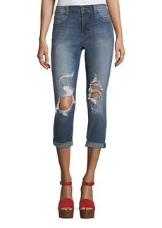 Sadey Distressed Capri Jeans
