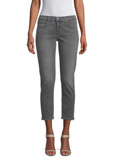 J Brand Sadey Mid-Rise Cropped Straight-Leg Jeans
