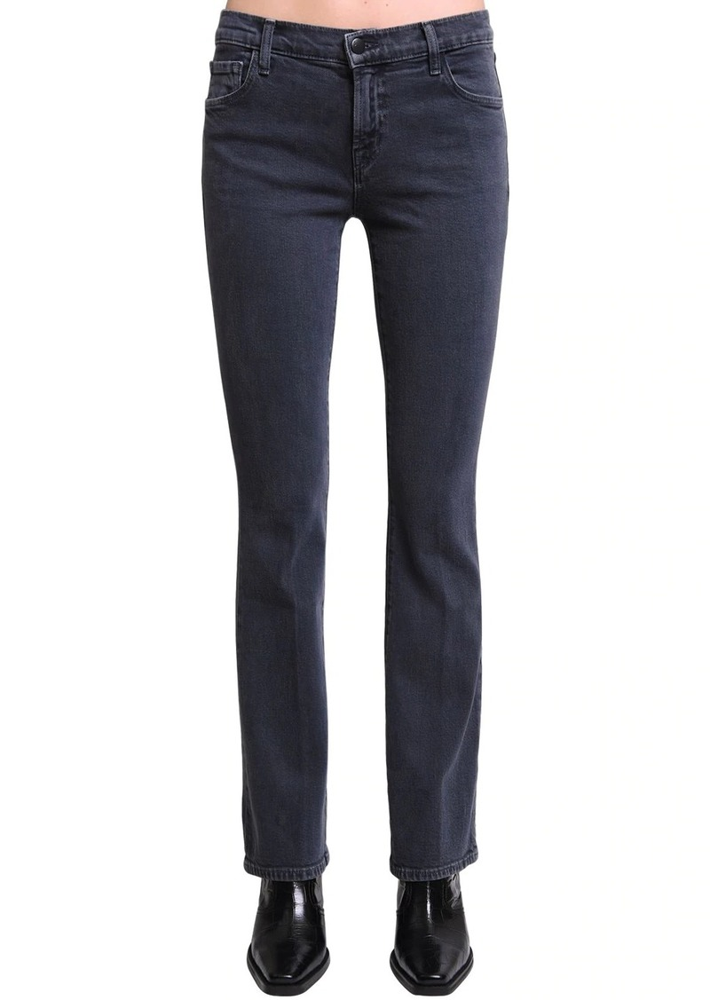 J Brand Salli Mid Flared Cotton Denim Jeans