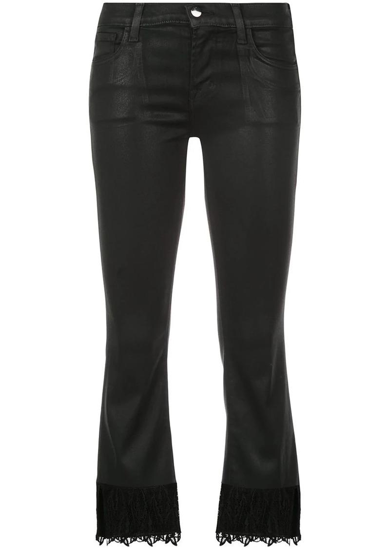 J Brand Selena crop lace trim jeans