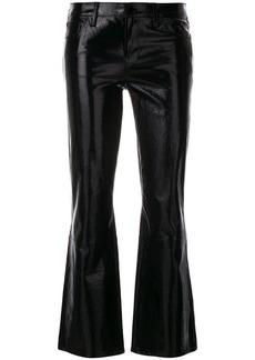 J Brand Selena cropped bootcut leather jeans