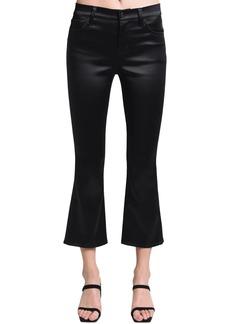 J Brand Selena Cropped Mid Rise Satin Pants