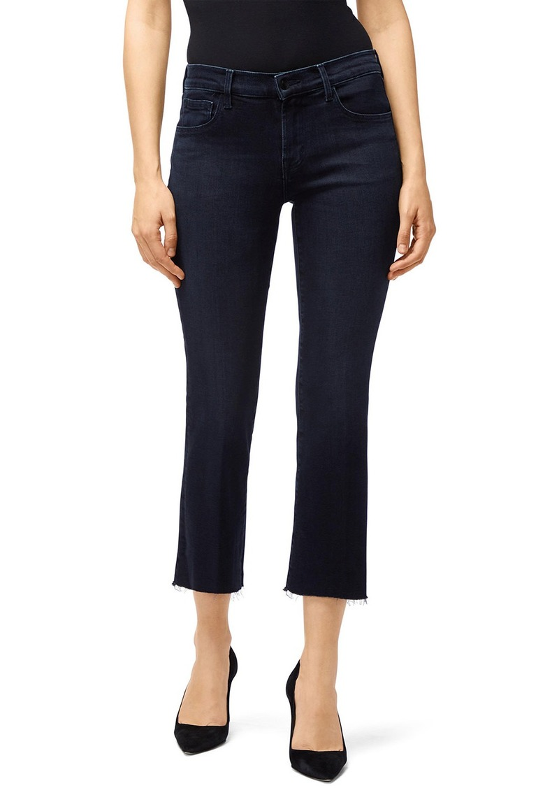 J Brand Selena Mid-Rise Crop Boot-Cut Jeans
