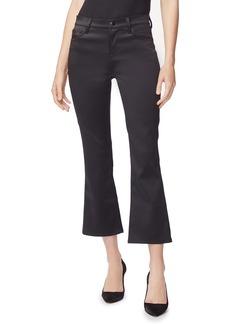 J Brand Selena Mid-Rise Crop Boot-Cut Pants