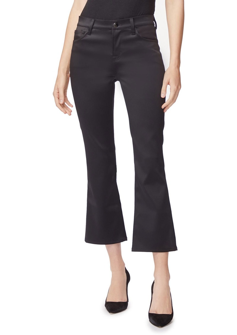 J Brand Selena Mid-Rise Crop Boot-Cut Pants