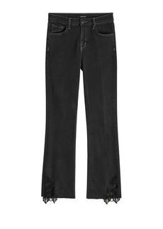 J Brand Selena Mid Rise Crop Boot Jeans with Lace