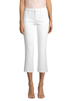 J Brand Selena Mid-Rise Crop Bootcut Faux-Pearl Jeans