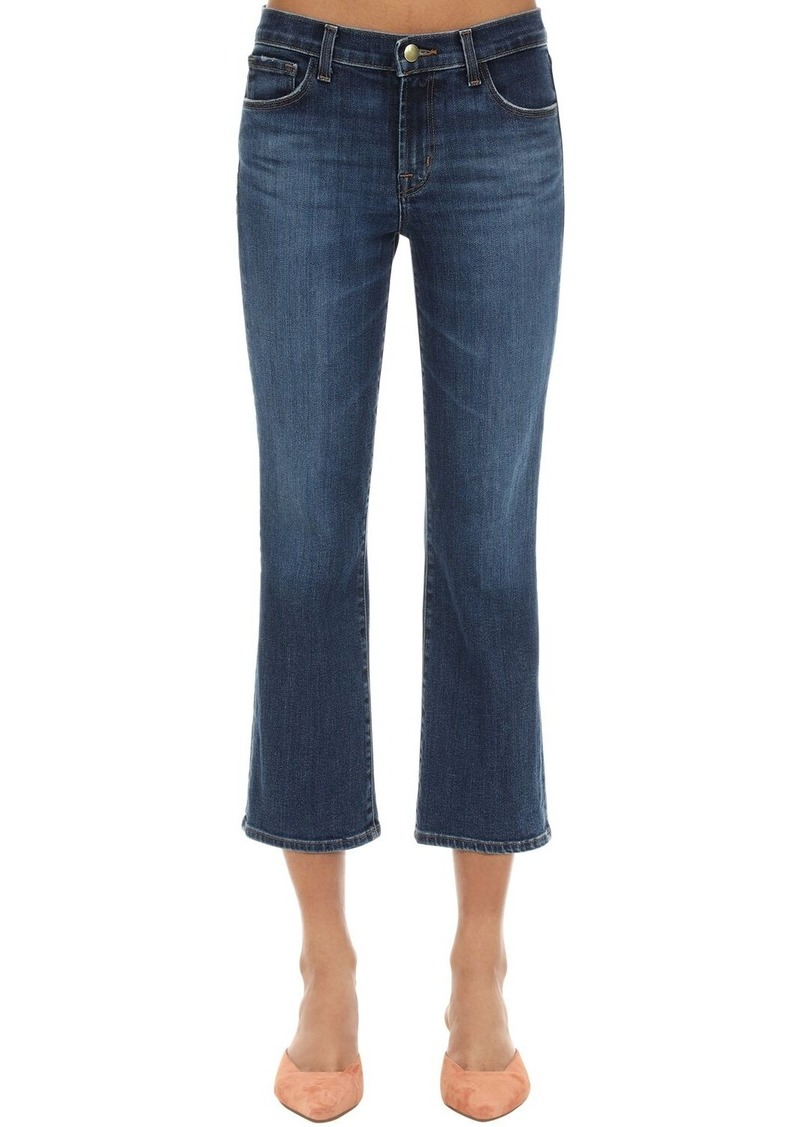 J Brand Selena Mid Rise Cropped Boot Denim Jeans