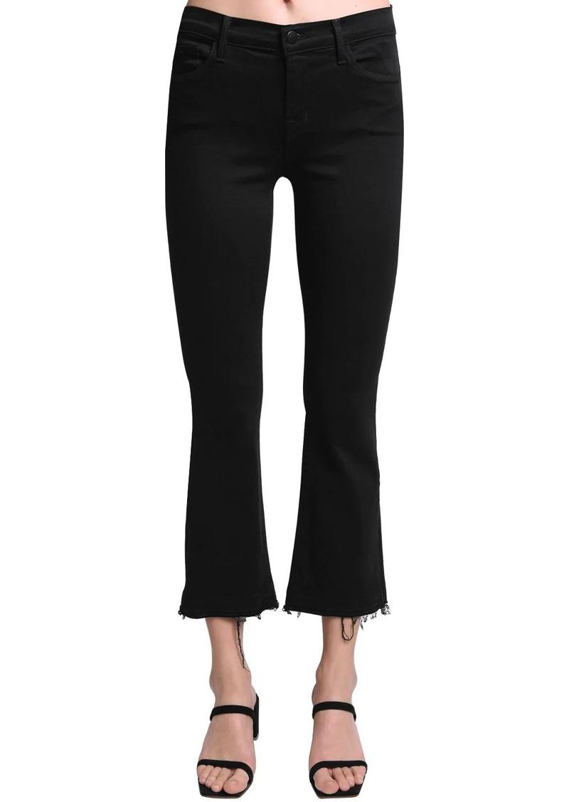 J Brand Selena Mid Rise Flared Cotton Denim Jean