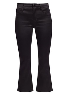 J Brand Selena Mid-Rise Satin Bootcut Jeans