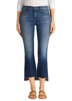 J Brand Selena Mid-Rise Step Hem Cropped Bootcut Jeans