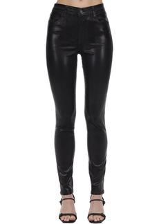 J Brand Skinny Maria Hi Rise Coated Denim Jeans