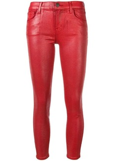 J Brand skinny shiny cropped trousers