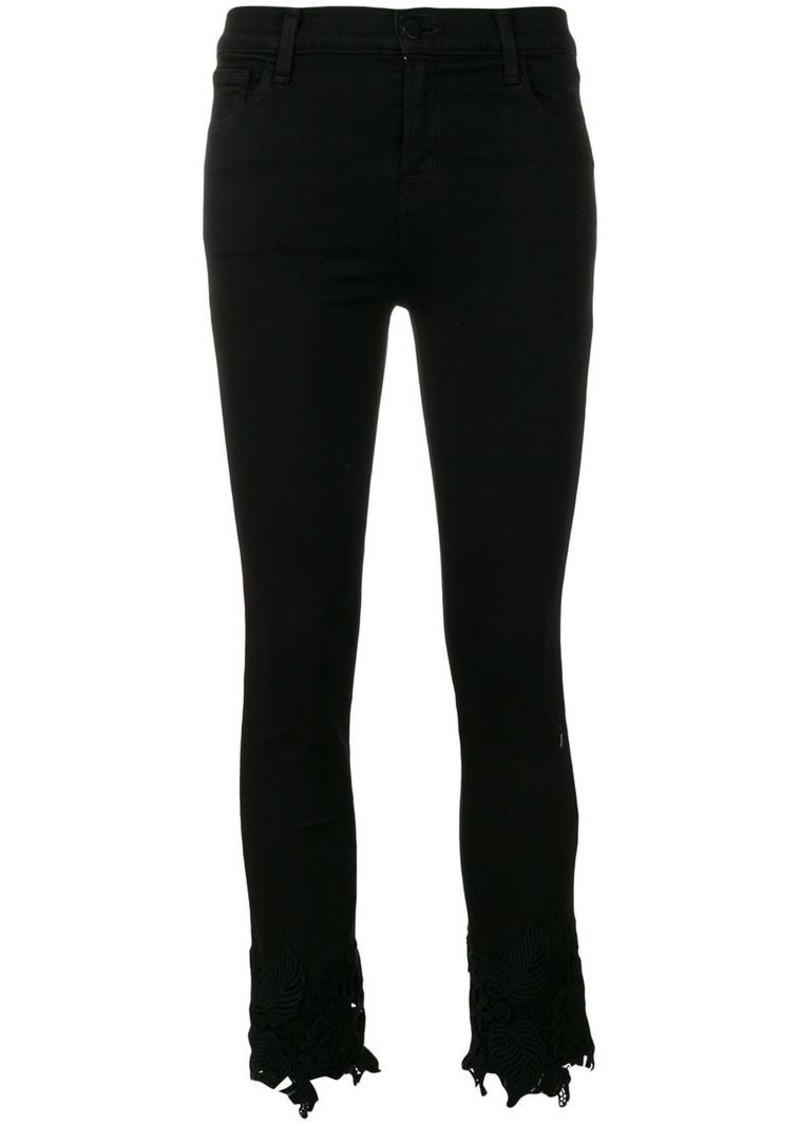 J Brand slim cropped trousers