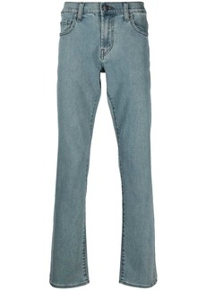 J Brand mid-rise slim-fit jeans