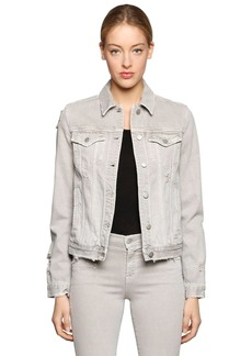 J Brand Slim Destroyed Cotton Denim Jacket