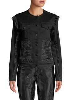 J Brand Slim-Fit Organza Denim Jacket