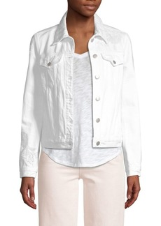 J Brand Slim-Fit Sequin Detail Denim Jacket