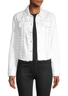 J Brand Slim-Fit Stud Denim Jacket