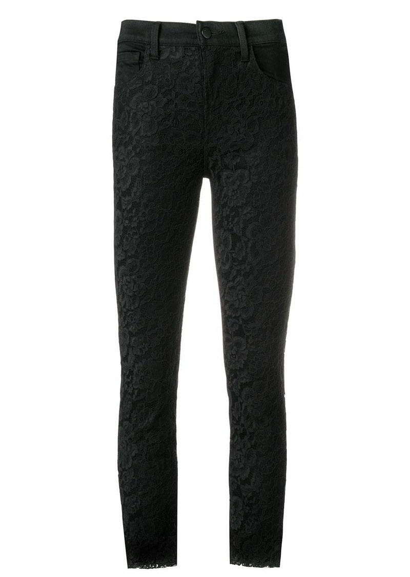 J Brand slim lace trousers