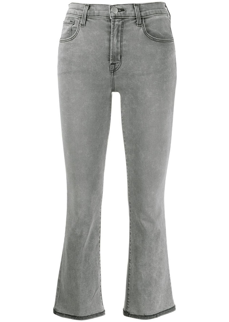 J Brand stitching detail cropped jeans