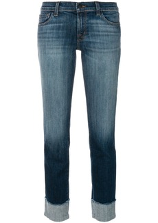 J Brand stonewashed cropped jeans