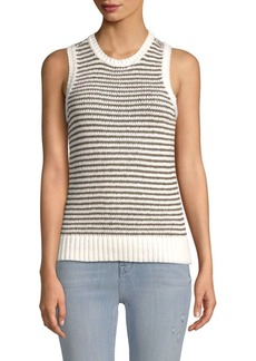 J Brand Striped Sleeveless Sweater