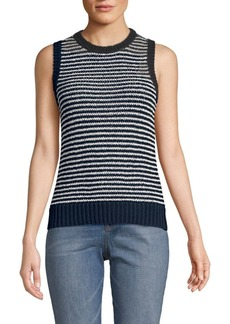 J Brand Striped Sleeveless Sweater