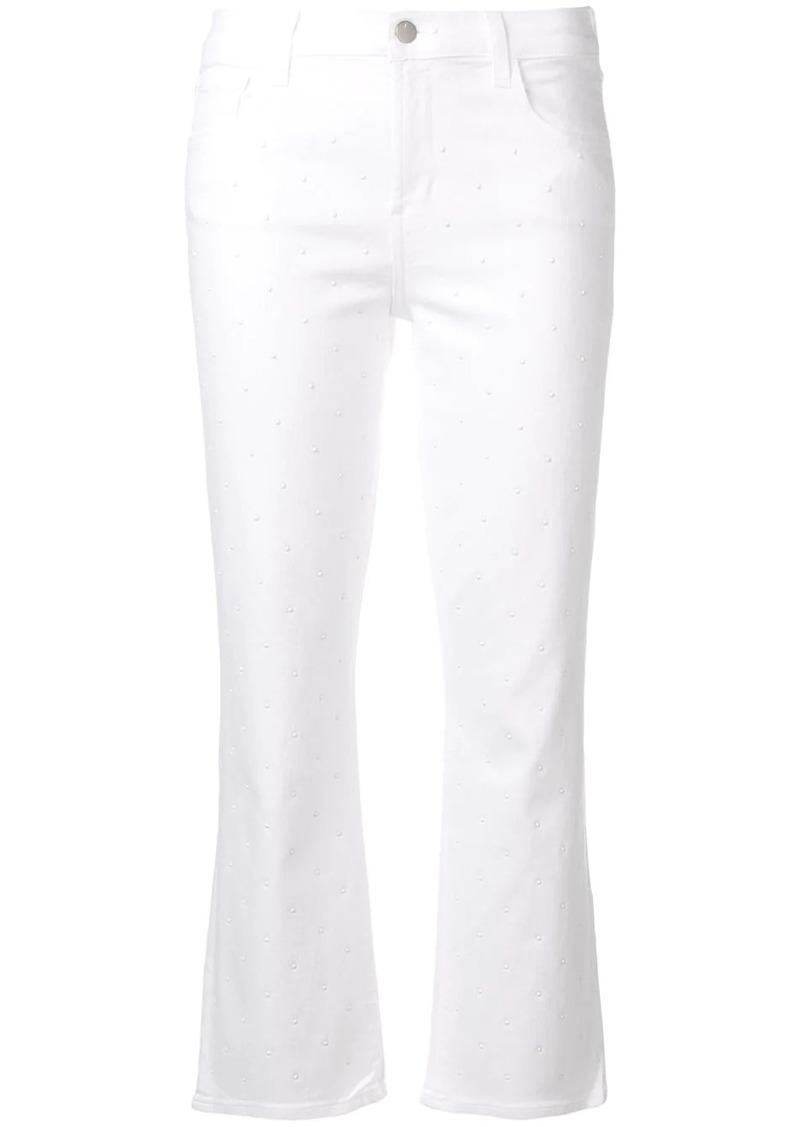 J Brand studded cropped jeans