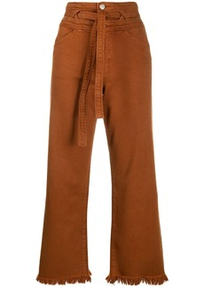 J Brand Sukey high rise cropped jeans