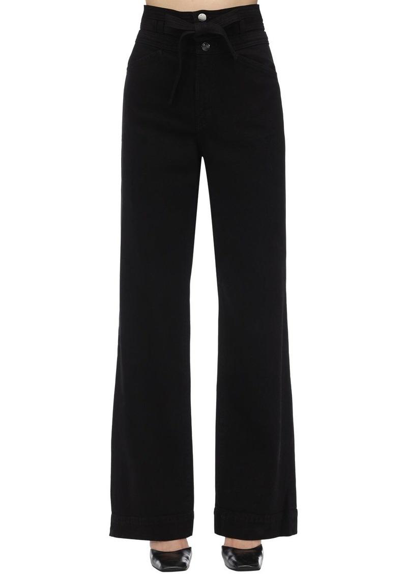 J Brand Sukey High Stretch Denim Palazzo Jeans