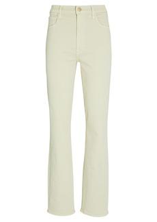 Teagan High-Rise Slim Straight Jeans