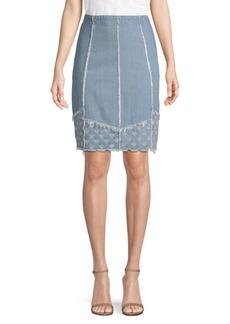 J Brand Tidepool Denim Mini Skirt