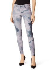 J Brand Tie-Dye Mid Rise Super Skinny Jeans