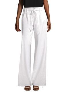 J Brand Tie-Waist Wide-Leg Pants
